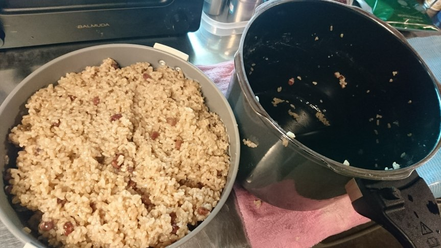 玄米炊き(精神論)